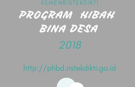 Program Bina Hibah Desa (PHBD) Tahun 2018